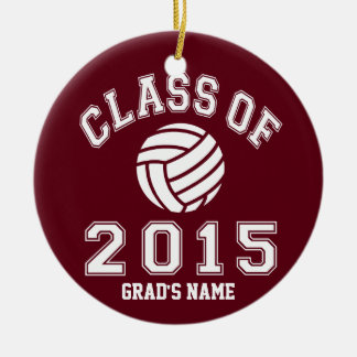 Classe du volleyball 2015 ornement rond en céramique