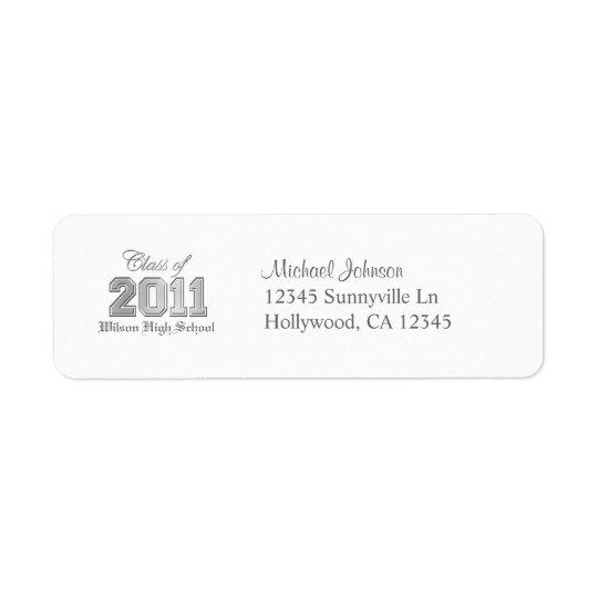 Classe élégante de 2011 étiquettes d'adresse retour