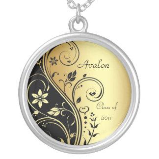 Classe florale d or élégant de collier d obtention
