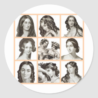 """Classeur des femmes"" - Sticker Rond"