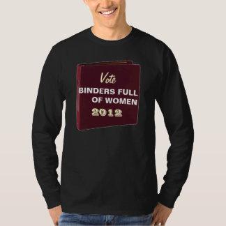 Classeurs de vote complètement des femmes 2012 T T-shirt