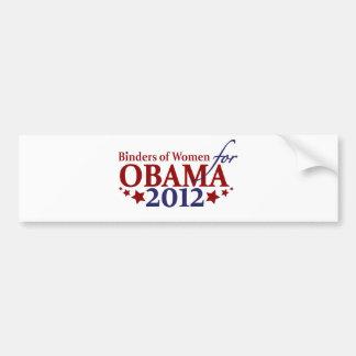 Classeurs des femmes pour Obama 2012 Autocollant Pour Voiture