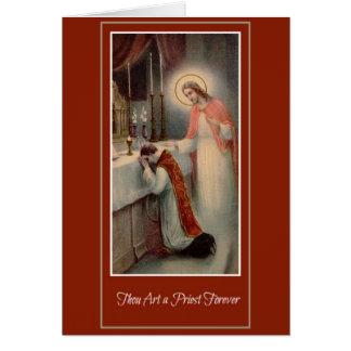 Classification Jésus de prêtre d'anniversaire de Carte De Vœux