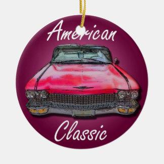 Classique américain Cadillac 1960 Ornement Rond En Céramique