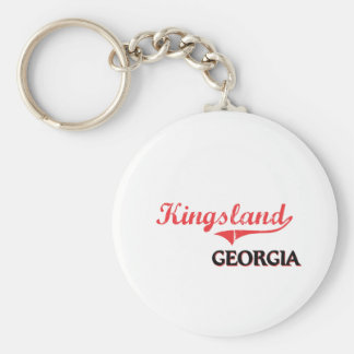 Classique de ville de Kingsland la Géorgie Porte-clé Rond