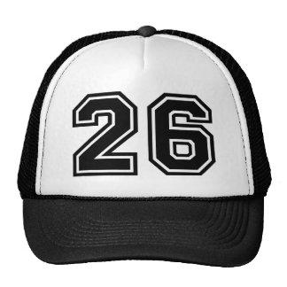 Classique du numéro 26 casquettes de camionneur