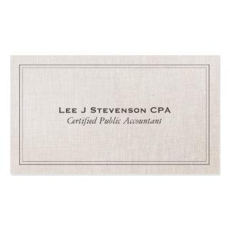 Classique simple professionnel de CPA de comptable Carte De Visite