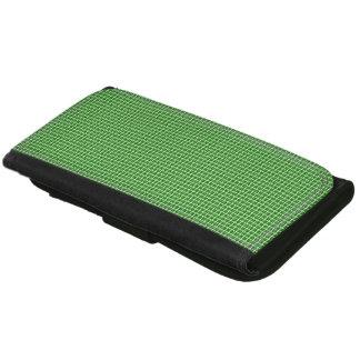 Classique-Vert-Plaid-Portefeuille-Multi-Styles