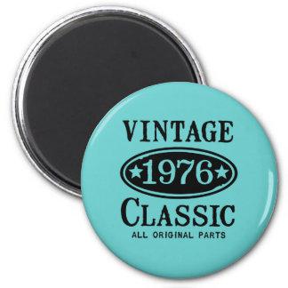 Classique vintage 1976 magnet rond 8 cm