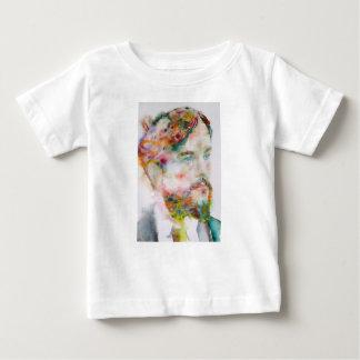 Claude debussy - portrait d'aquarelle t-shirt pour bébé