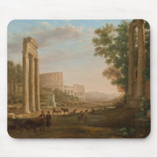 Claude Lorrain - ruines du forum romain Tapis De Souris