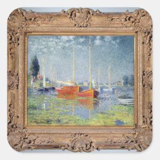 Claude Monet | Argenteuil, 1875 Sticker Carré