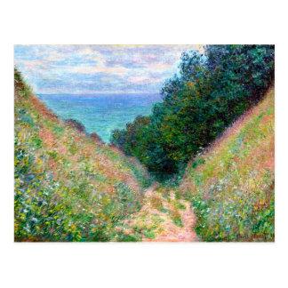 Claude Monet : Chemin à la La Cavee Pourville Carte Postale