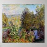 Claude Monet - coin du jardin chez Montgeron Affiche