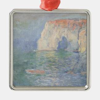 Claude Monet | Etretat Ornement Carré Argenté