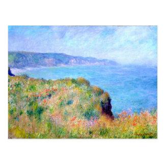 Claude Monet : Falaise près de Pourville Carte Postale