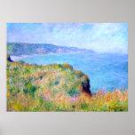 Claude Monet : Falaise près de Pourville Poster