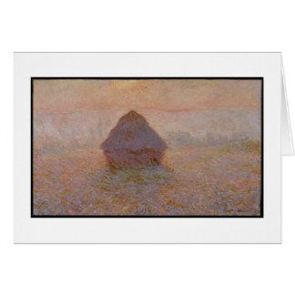 Claude Monet | Grainstack, Sun dans la brume Carte De Vœux