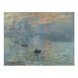Claude Monet, impression, soleil levant Carte Postale