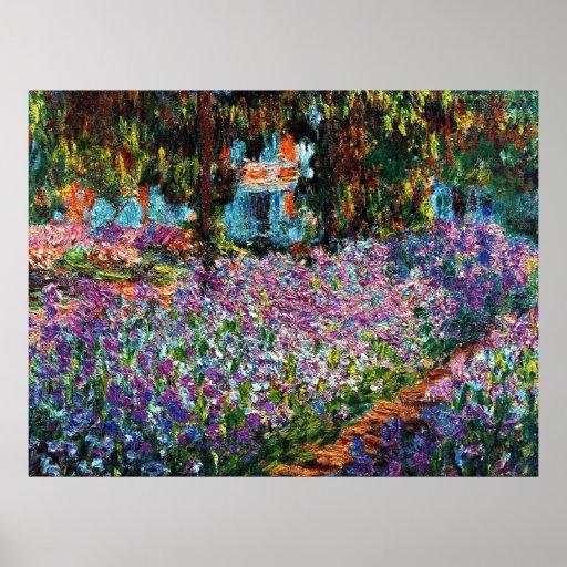 Claude Monet : Iris dans le jardin de Monet Posters