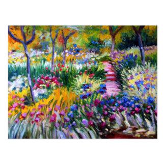 Claude Monet : Jardin d'iris par Giverny Carte Postale