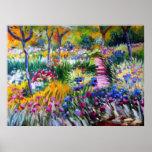 Claude Monet : Jardin d'iris par Giverny Posters