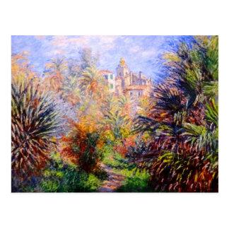 Claude Monet : Jardins de la villa Moreno Bordighe Carte Postale