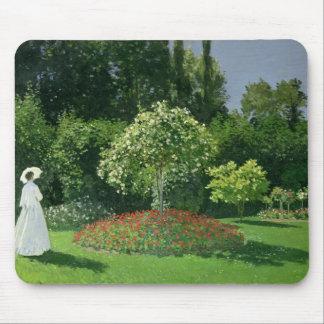 Claude Monet | Jeanne Marie Lecadre dans le jardin Tapis De Souris