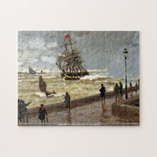Claude Monet - jetée du Havre en mauvais temps Puzzle Avec Photo