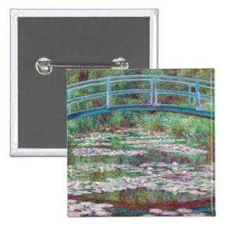 Claude Monet la passerelle japonaise Badge Carré 5 Cm