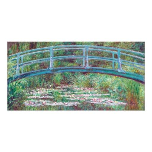 Claude Monet la passerelle japonaise Cartes De Vœux Avec Photo