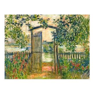 Claude Monet : La porte de jardin chez Vetheuil Carte Postale