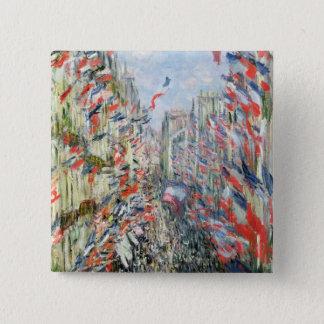 Claude Monet | la rue Montorgueil, Paris Badges