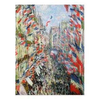 Claude Monet | la rue Montorgueil, Paris Carte Postale