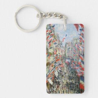 Claude Monet | la rue Montorgueil, Paris Porte-clefs