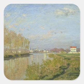Claude Monet | la Seine à Argenteuil, 1873 Sticker Carré