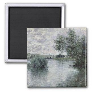 Claude Monet | la Seine chez Vetheuil, 1879 Magnet Carré