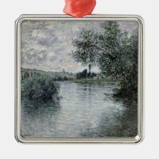 Claude Monet | la Seine chez Vetheuil, 1879 Ornement Carré Argenté