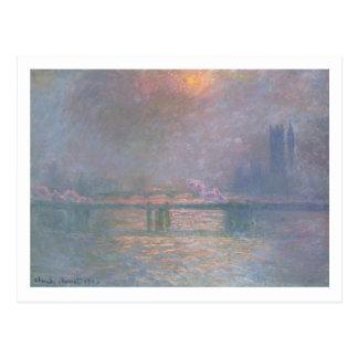 Claude Monet | la Tamise avec la croix de Charing Carte Postale
