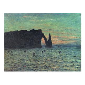 Claude Monet | l'aiguille creuse chez Etretat, Carte Postale