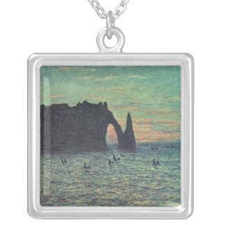 Claude Monet | l'aiguille creuse chez Etretat, Pendentif Carré