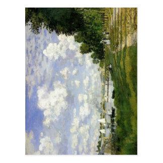 Claude Monet le bassin à Argenteuil Techniqu 1872 Cartes Postales