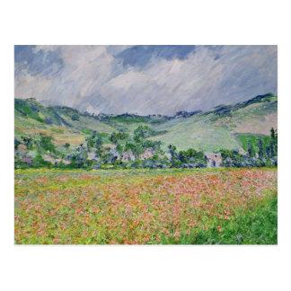 Claude Monet | le champ de pavot près de Giverny, Cartes Postales