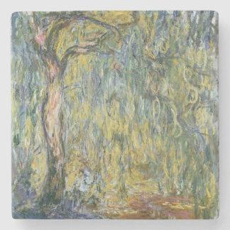 Claude Monet | le grand saule chez Giverny, 1918 Dessous-de-verre En Pierre