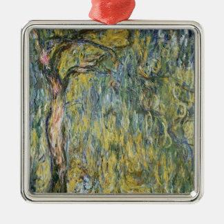 Claude Monet | le grand saule chez Giverny, 1918 Ornement Carré Argenté