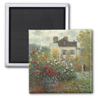 Claude Monet   le jardin de l'artiste à Argenteuil Aimant