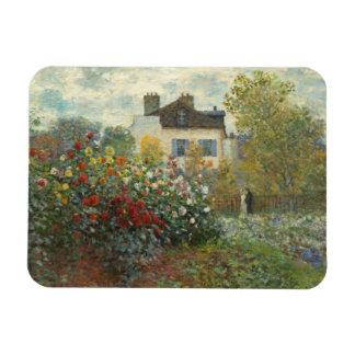 Claude Monet   le jardin de l'artiste à Argenteuil Magnet Flexible