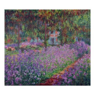 Claude Monet | le jardin de l'artiste chez Giverny Poster