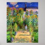 Claude Monet : Le jardin de Monet chez Vétheuil Affiche