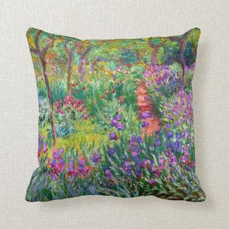Claude Monet : Le jardin d'iris chez Giverny Coussins Carrés